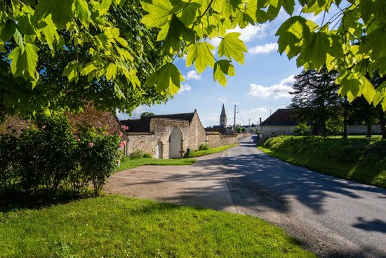 La Milaudiere: Authentic and charming fortified farmhouse in Ligré Village between Chinon and Richelieu.
