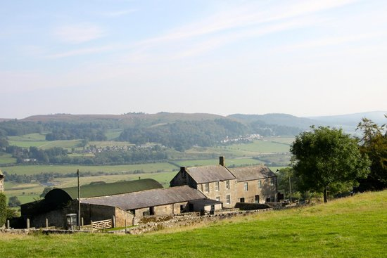 Tosson Tower Farm: View across the Valley with the Farmhouse in the Foreground