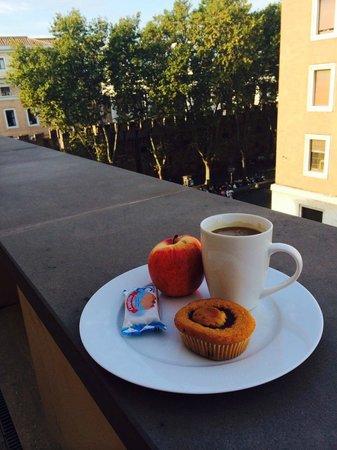 Vatican View: B'fast on pvt terrace (apple was mine :-) )