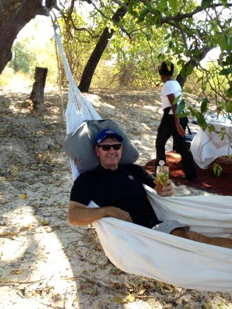 Royal Chundu Luxury Zambezi Lodges: We were presented with a Pimms to enjoy upon arrival at the island.