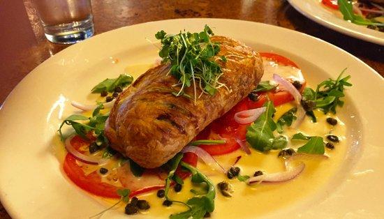 Central: Wild Salmon en croute, fennel, tomato