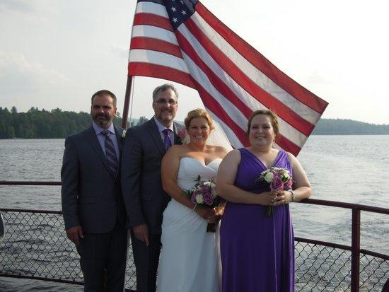 Raquette Lake Navigation Co: The bridal party