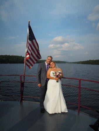 Raquette Lake Navigation Co: The bride and goom