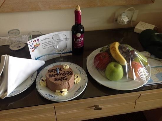 Crystal De Luxe Resort & Spa : Cadeau van management voor mijn verjaardag