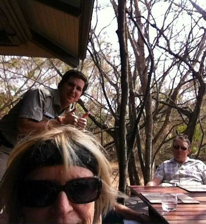 andBeyond Phinda Forest Lodge: A selfie with our ranger David checking with us at breakfast.
