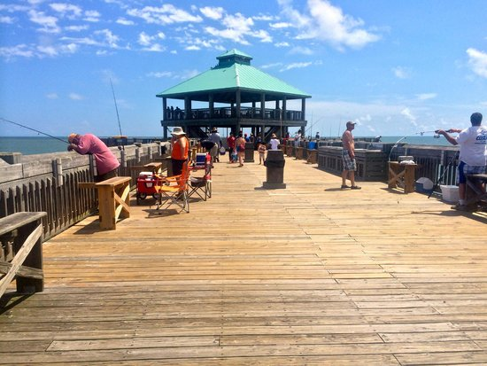 Flag installments picture of folly beach fishing pier for Folly beach fishing