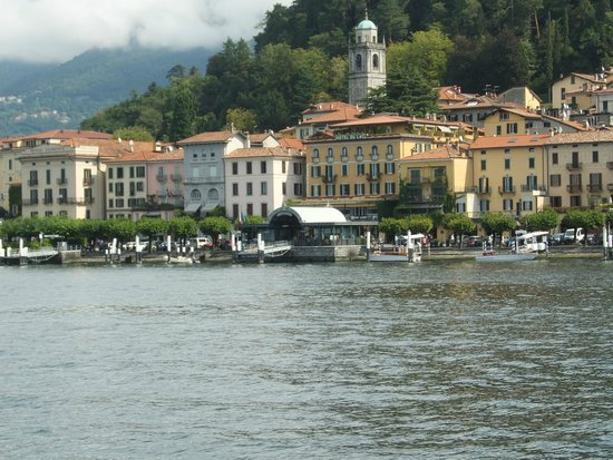 Hotel Du Lac : Hotel from approaching ferry.