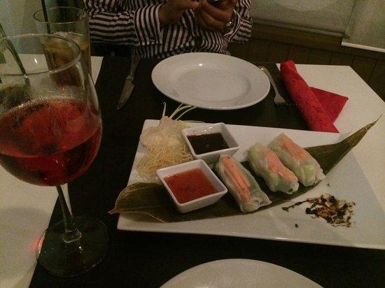 Fusion Restaurant & Loungebar: veggie spring rolls