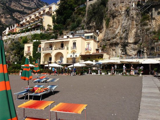La Caravella Positano: From the main beach.
