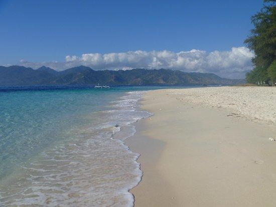 Gili Meno, Indonesia: пляж