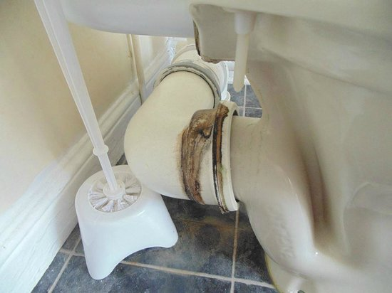 The Leam Hotel: disgusting toilet in room 33