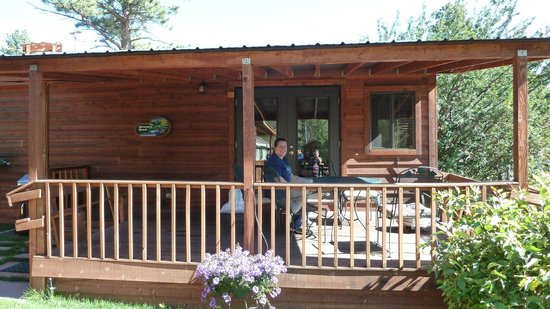 Paradise On The River: Rivers End Cabin Patio