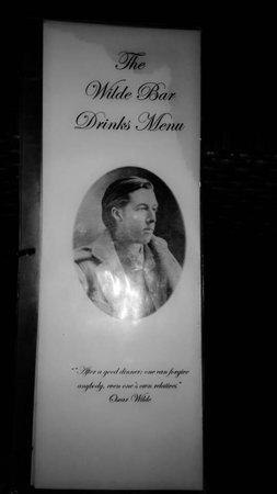 Oscar's Bar and Restaurant Malapascua: Drinks Menu Card