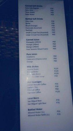 Oscar's Bar and Restaurant Malapascua: Drinks Page 1