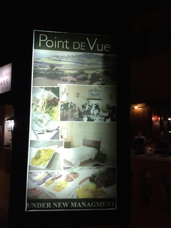 Point de Vue Guesthouse and Restaurants: Insegna