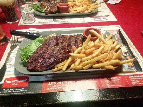 Steak picture of buffalo grill andelnans tripadvisor - Buffalo grill villenave d ornon ...