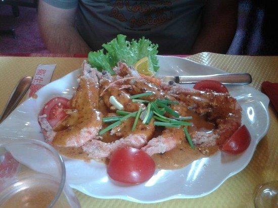 Le Tonkinois : Gambas grillés sauce saté