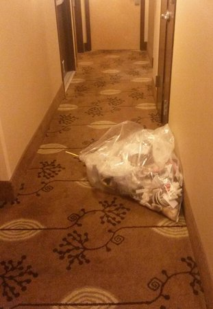 Doubletree Hotel Chelsea - New York City: Garbage dumped in Hallway