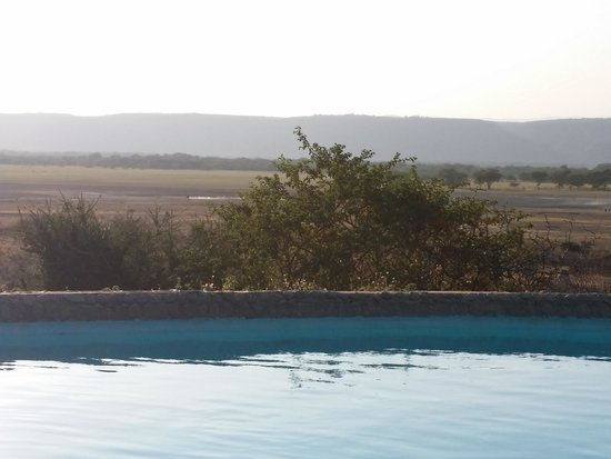 Manyara Wildlife Safari Camp : View from the pool area of Lake Manyara