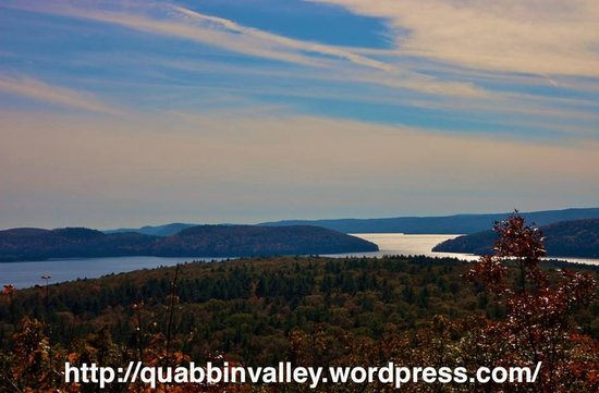 "Quabbin Reservoir: View of ""The Pass"" as seen from atop Soapstone Hill in Petersham, MA inside the Quabbin Reservoi"