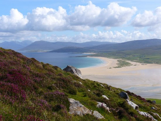 Isla de Harris, UK: The beach from Ceapabhail