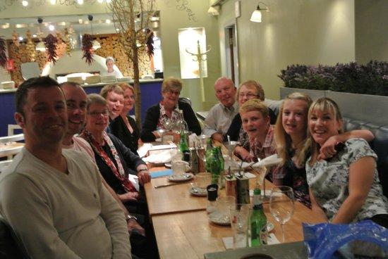Zizzi - Hitchin: 11 happy well fed people!