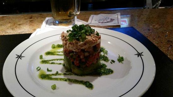 Saltgrass Steak House: Avocado Crab Stack!