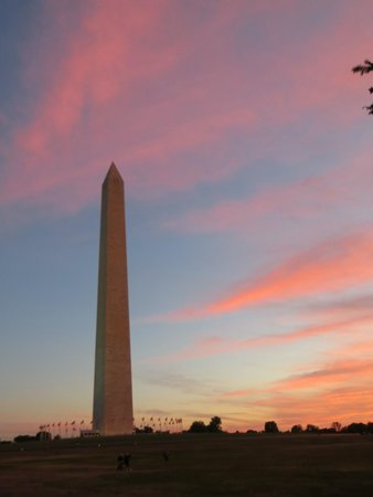 DC by Foot: Washington's Monument at sunset.