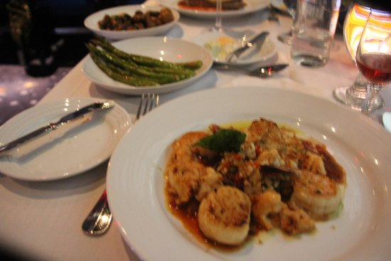 Top of the World: Seafood entree at Top of the World Restaurant, Vegas