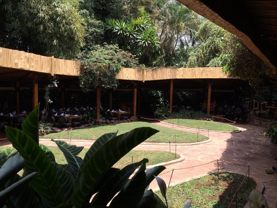 The Carnivore Restaurant: Dining courtyard
