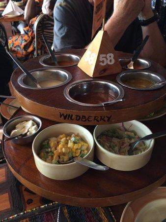 The Carnivore Restaurant: Lazy susan condiments