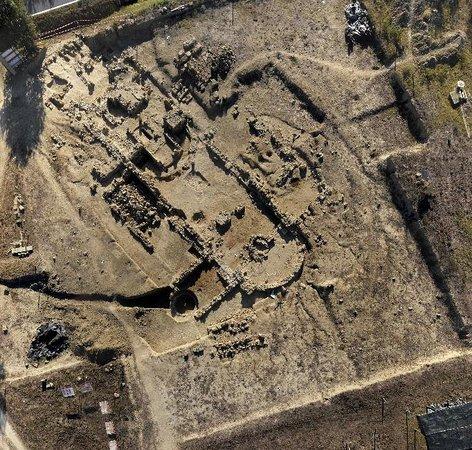 San Giovanni d'Asso, Italy: Foto aerea del cantiere archeologico