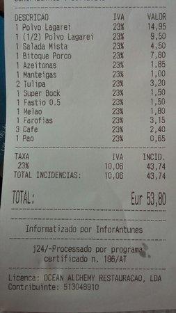 Caldas da Rainha, Portugal: Salada mista 4,5€ ???