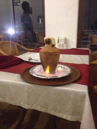 Uncles Restaurant: Lamb kebab in clay pot