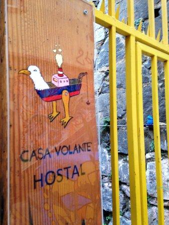 Casa Volante Hostal: al la entrada del hostal