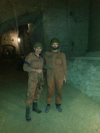 Immagini di soldati nella galleria borbonica