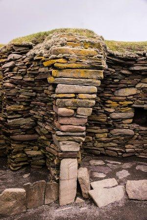Jarlshof Prehistoric and Norse Settlement: Dry stonework