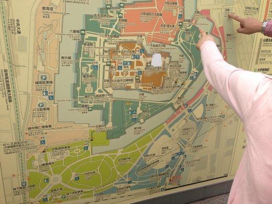 Map Picture of Osaka Castle Park Osaka TripAdvisor