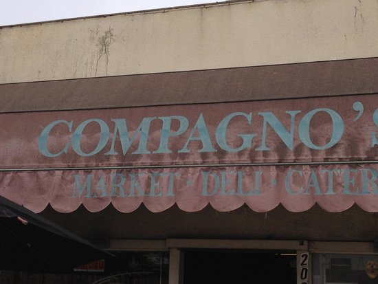 Compagno's Market & Deli : Don't get fooled by the outside awning!