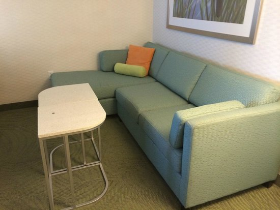 SpringHill Suites Huntsville Downtown: Fold out sofa and chaise.