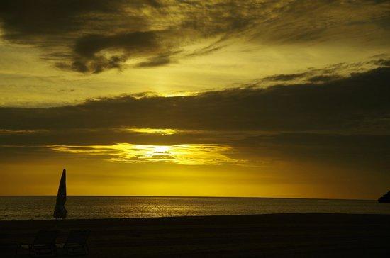 Okuma Beach: 夕景