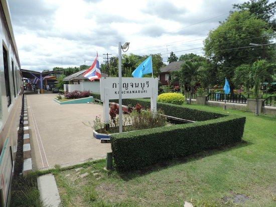 Thai-Burma Railway (Death Railway): Leaving Kanchanburi Station