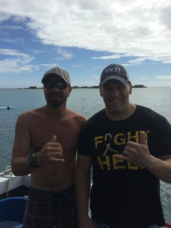 Kaimana Divers: Will (instructor left) and Adam (second time diver) after our dive...