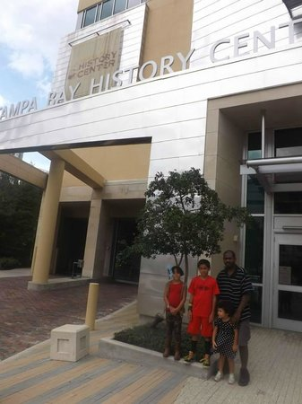 Tampa Bay History Center: The fam outside!