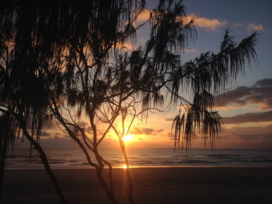 Noosa North Shore Beach Campground : Sunrise in front of the camp site