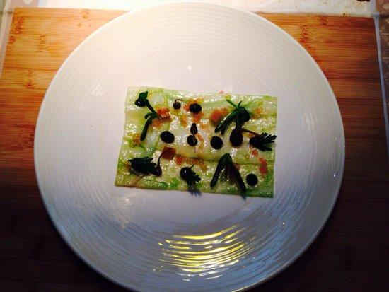 Riberach Hotel Cave-Restaurant : Fish carpaccio