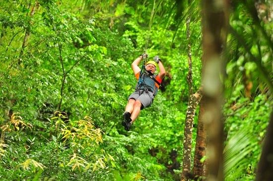 Treetop Adventure Park: great setting, and great fun