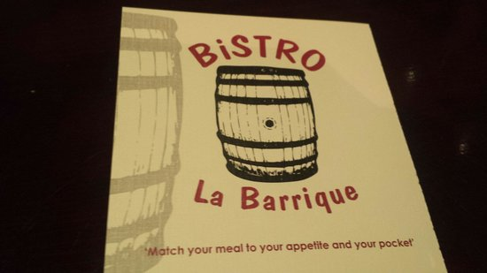 Bistro La Barrique: All you need for a happy evening