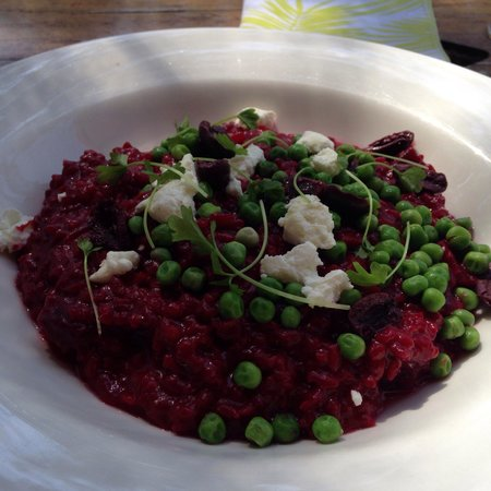 Woodstock Coterie: Shiraz and beetroot risotto