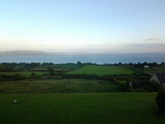 Inishowen Lodge : View over Lough Foyle from the bedroom